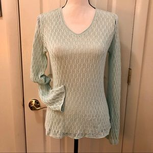 Liz Claiborne Crochet Knit Sweater